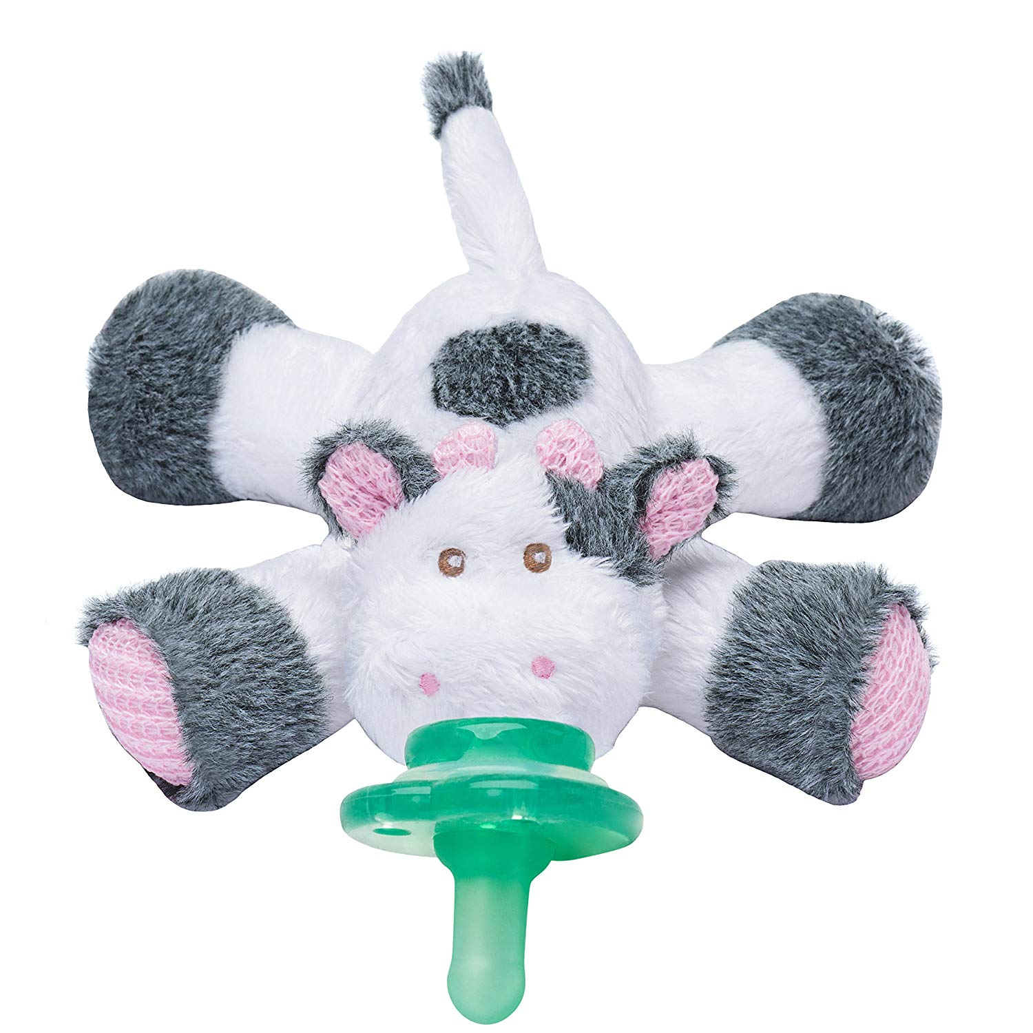 Pacifier Holder Plush Toy Use with Multiple Paci-Plushies Giraffe Buddies
