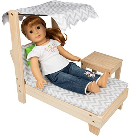 Awesome Dress Along Dolly Lounge Chair W Canopy Table Set American Girl 18 Doll Indoor Outdoor Dollhouse Furniture Home Interior And Landscaping Ymoonbapapsignezvosmurscom