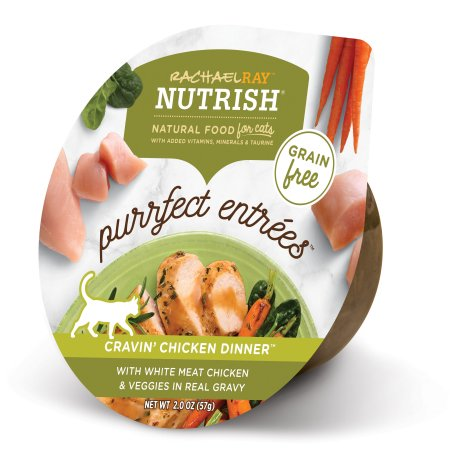 (12 pack) Rachael Ray Nutrish Purrfect Entrees Grain Free Natural Wet Cat Food Cravin' Chicken Dinner with White Meat Chicken & Veggies in Real Gravy, 2 oz