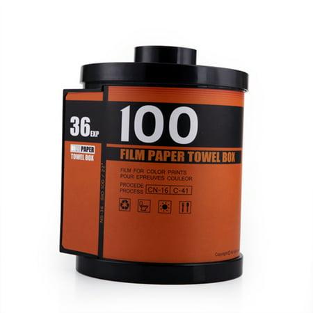 Toilet Novelties (HDE Novelty Camera Roll Toilet Paper Cover Holder Film Canister Tissue Dispenser)