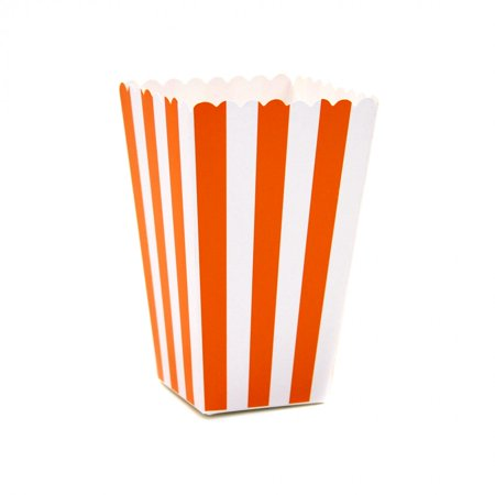 Dress My Cupcake 12-Pack Party Popcorn Boxes, Striped,