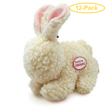 Spot Vermont Style Fleecy Rabbit Shaped Dog Toy 9 Long Pack of 12