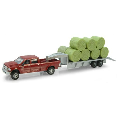 Ertl Dodge Pickup With Diecast Trailer And Bales, 1:64-Scale - image 2 de 2