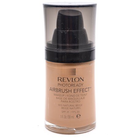 Effects Makeup - Revlon PhotoReady Airbrush Effect Makeup SPF20 005 Natural Beige 1 Fl Oz
