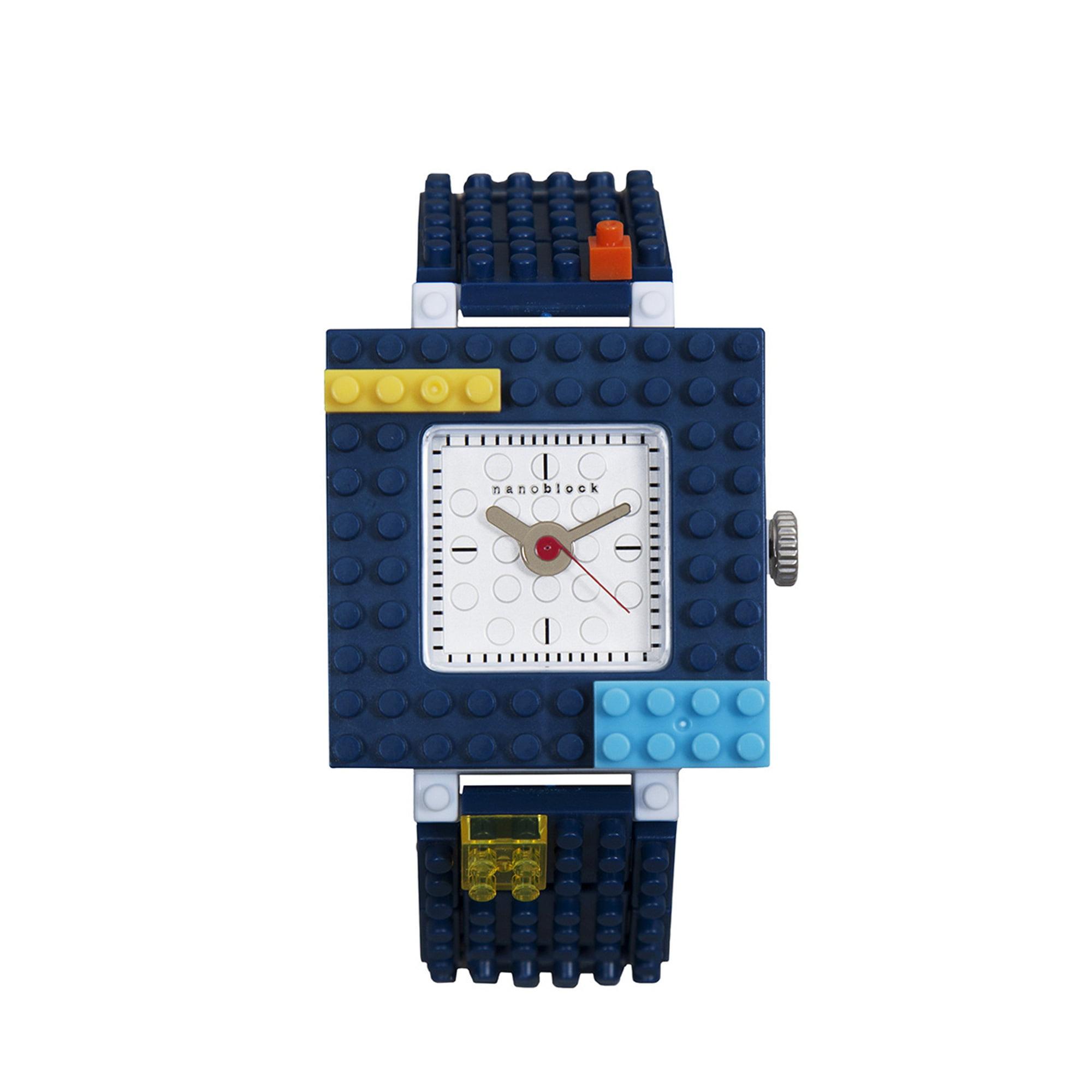 Nanoblocktime Nano Squared Watch, Navy by Nanoblocktime
