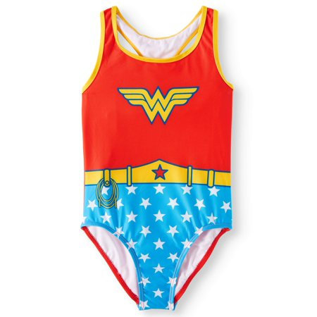 Wonder Woman Cosplay One-Piece Swimsuit (Big Girls) (One Piece Cosplay For Sale)