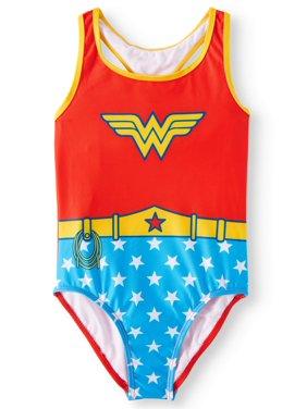 d4f486d8c2ef1 Product Image Wonder Woman Cosplay One-Piece Swimsuit (Big Girls). DC  SUPERHERO GIRLS