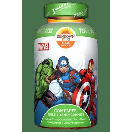 Sundown Naturals® Kids Marvel Avengers® Complete Multivitamin, 200