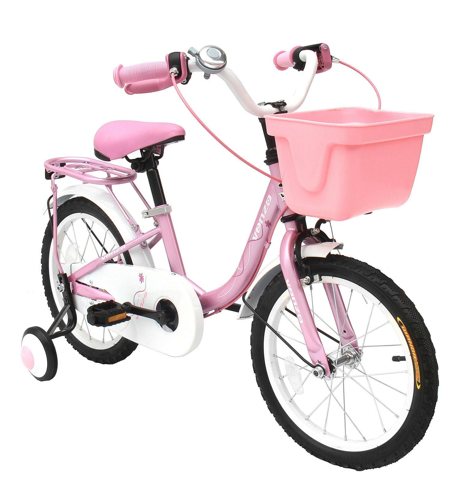 """Venzo Children 16"""" Push Kids Bike with Training Wheels"""