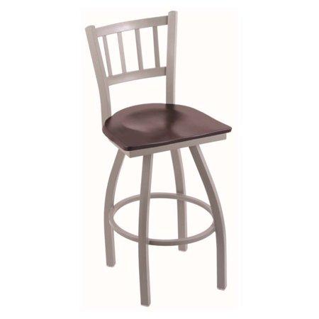 Holland Bar Stool Contessa 30 in. Swivel Bar Stool with Wood (Contessa Wood Seat Swivel Stool)