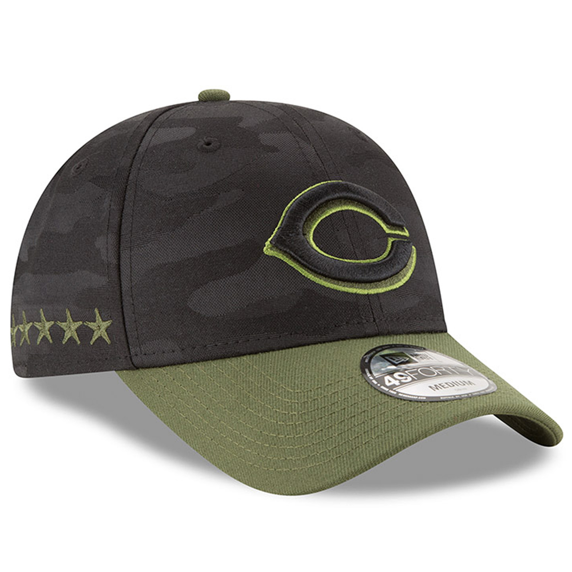 Cincinnati Reds New Era 2018 Memorial Day 49FORTY Fitted Hat - Black