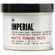 Imperial Barber Grade Products Matte Hair Pomade Paste for Men, 4.0 Oz