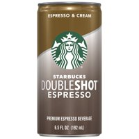 Starbucks Doubleshot, Espresso & Cream, Rich & Bold, 6.5 Fl Oz Cans (12-Pack)