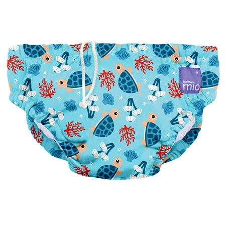 - Bambino Mio, reusable swim diaper, turtle bay, medium (6-12 months)