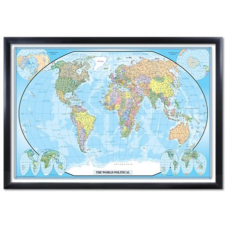 24x36 world classic wall map poster black wood framed walmart 24x36 world classic wall map poster black wood framed gumiabroncs Image collections