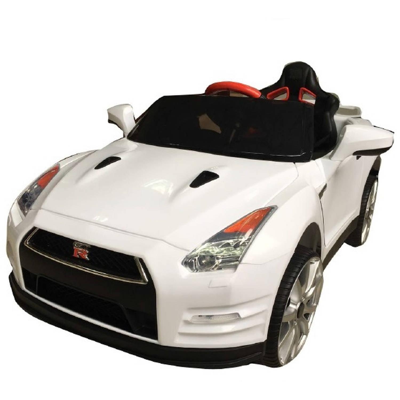 12v best ride on nissan gtr r35 in white battery powered wheels wonderlanes toys for kids
