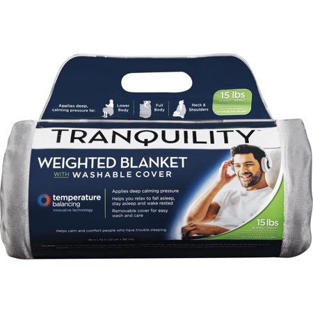 Tranquility Weighted Blanket 15lb, with Washable Cover - Temperature Balancing