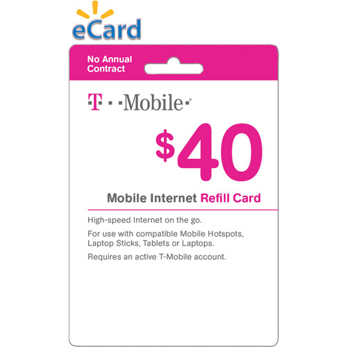 T-Mobile Mobile Internet Web $40 (Email Delivery)
