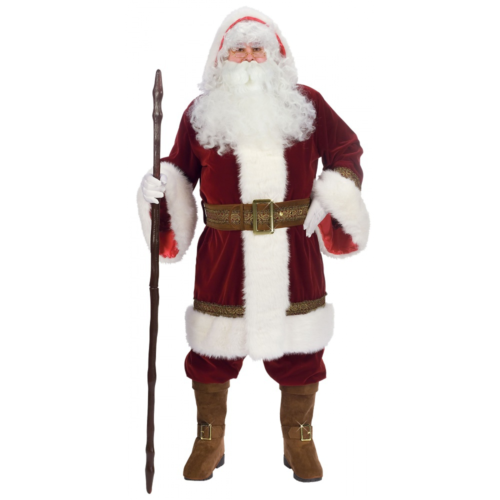 Fun World Deluxe Old Time Santa Suit Adult Costume - Stan...