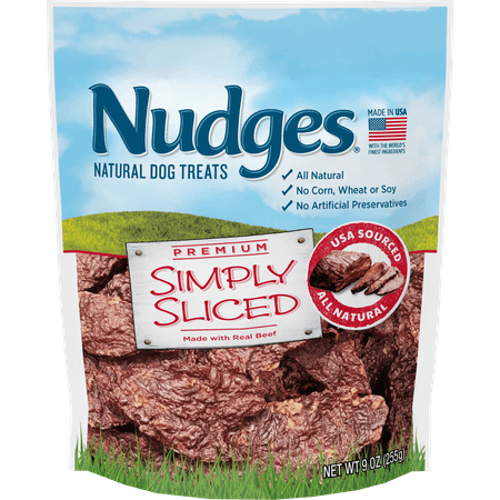 Nudges Simply Sliced Beef Dog Treats, 9 Oz Beef Muscle Pet Treats