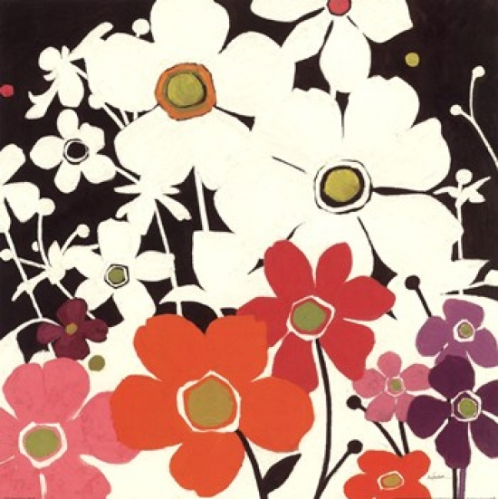 Flower Power I Poster Print by Shirley Novak (18 x 18)