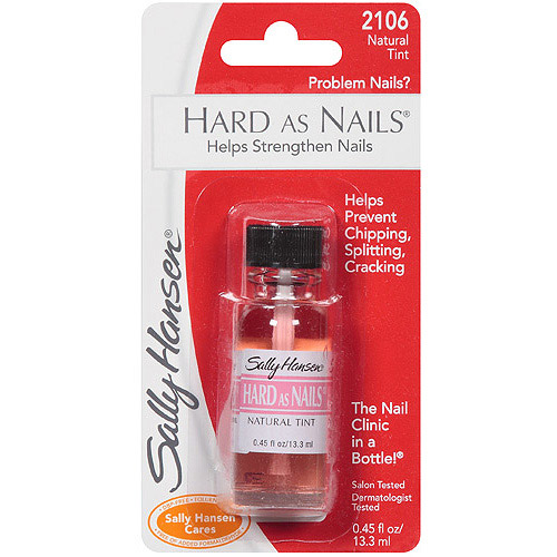Sally Hansen Hard as Nails Nail Treatment, 2106 Natural Tint, 0.45 fl oz