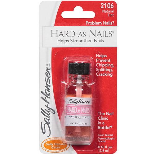 Sally Hansen Hard as Nails Nail Treatment, 2106 Natural Tint, 0.45 fl oz