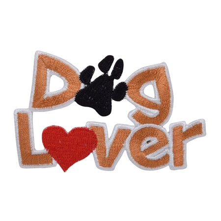 Dog Lover - Heart and Paw Print - Pets - Iron on Applique - Embroidered Patch