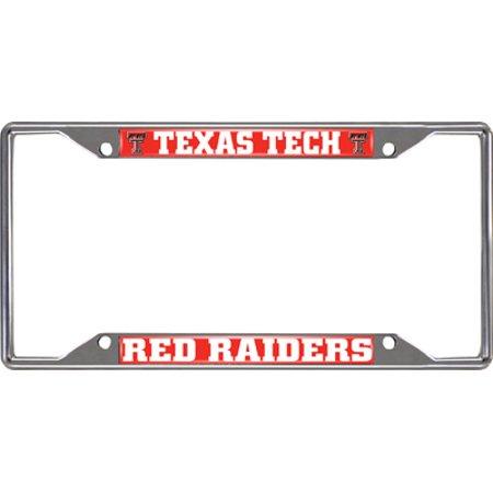 Texas Tech Red Raiders Chrome License Plate Frame