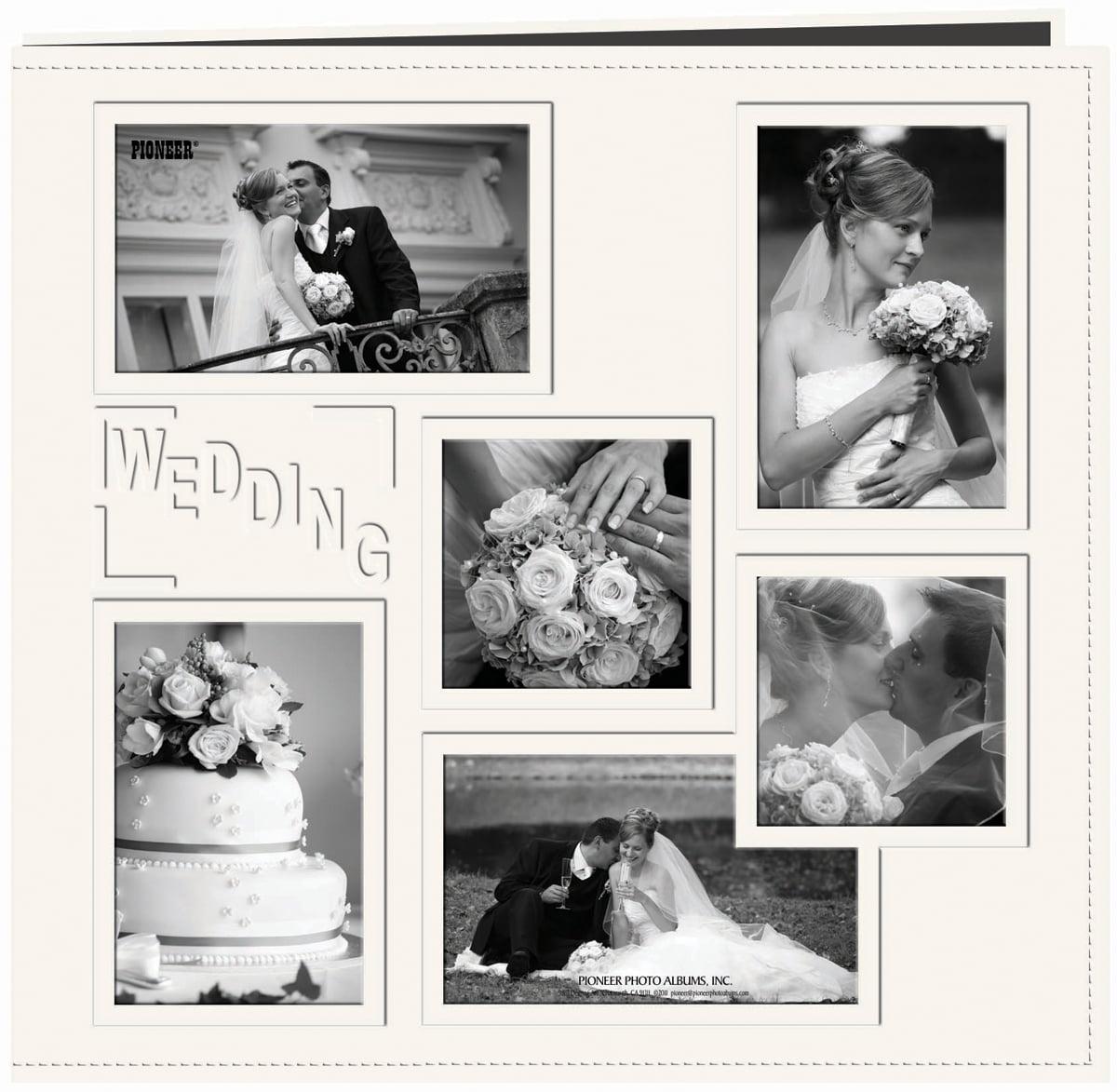 Pioneer Embossed Collage Frame Post Bound Album 12\