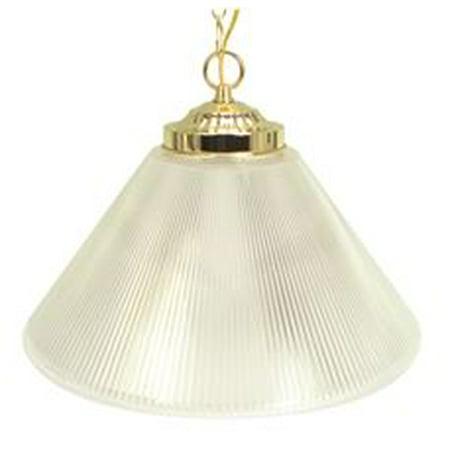 Prismatic Cone Acrylic Pendant Ceiling Fixture, Maximum 100 Watt Incandescent G40 Medium Base Bulb, 15 In., Polished (Prismatic Cones)