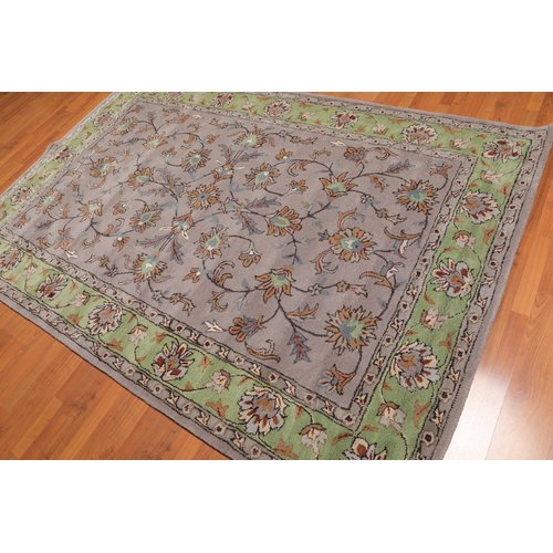 Isabelline Eno Traditional Persian Hand Tufted 6 X 9 Wool Gray