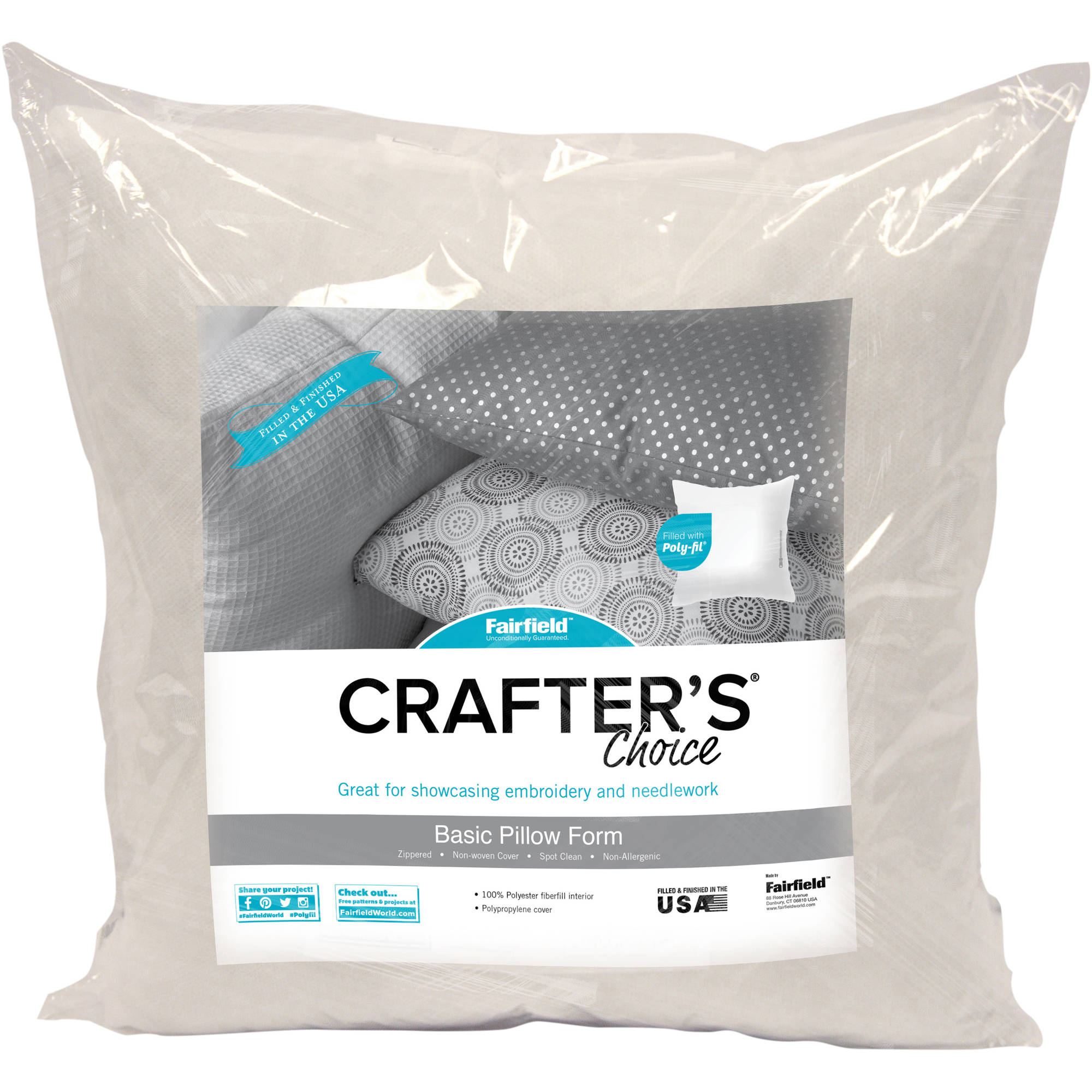 "Fairfield Crafter's Choice Pillow Insert, 20"" x 20"", 1 Each"
