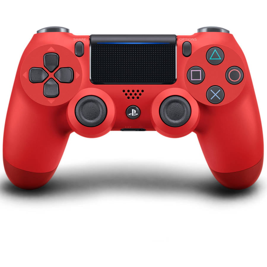 Sony PlayStation 4 DualShock 4 Controller, Magma Red, 711719504405 by Sony