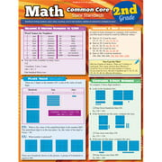 BarCharts 9781423221562 Math Common Core 2Nd Grade Quickstudy Easel