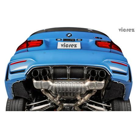 Vicrez BMW M4 F82 F83 / M3 F80 2014-2017 VZ1 Carbon Fiber Rear Diffuser - (Carbon Rear Diffuser)