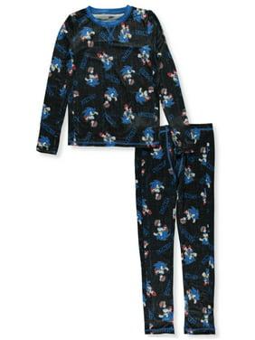 Cuddl Duds Boys' Sonic the Hedgehog 2-Piece Stretch Poly Long Underwear Set