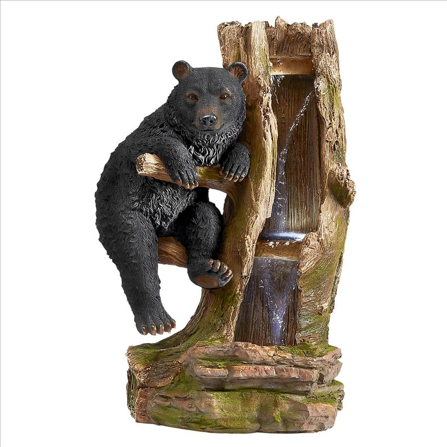 Black Bear Necessities Cascading Sculptural Fountain by Design Toscano