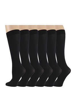 73b8ac608b7 Free shipping. Product Image 6 Pairs Different Touch Women s Queen Size  Opaque Stretchy Nylon Spandex Black Knee-High Trouser