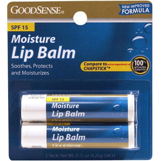 Good Sense Lip Balm Moisturizer with SPF-15 Twin Pack, 13. 3 oz - Case of 48