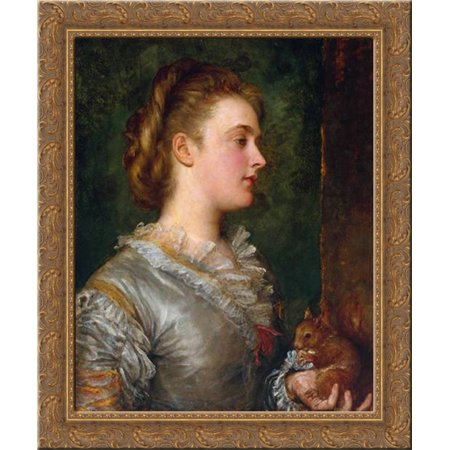 Dorothy Tennant  Later Lady Stanley 20X23 Gold Ornate Wood Framed Canvas Art By Watts  George Frederick