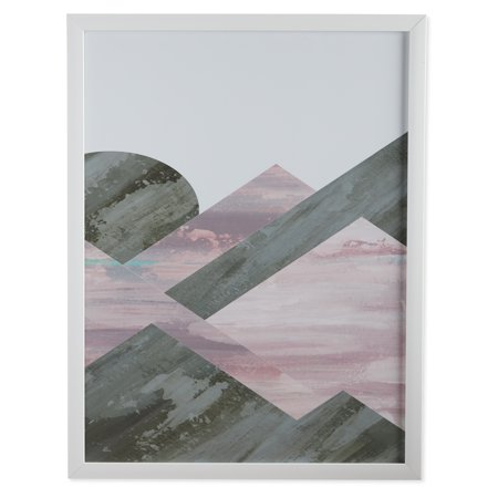 Geo Pink Wall - MoDRN Glam Pink Geo Shapes Right Wall Art