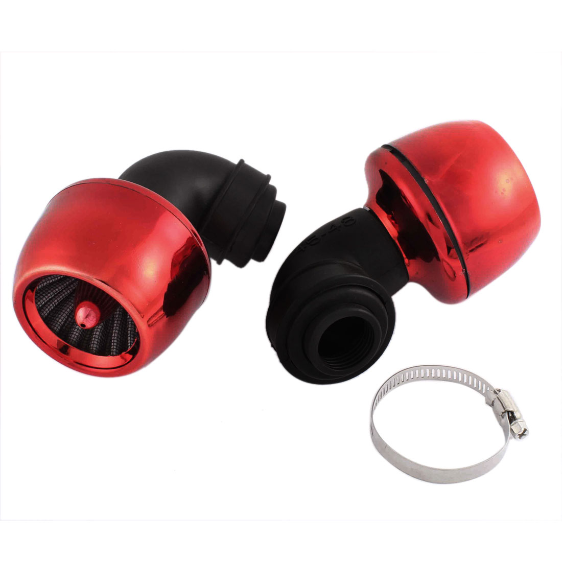 "2 Pcs Thread Diameter 51mm 2"" Red Apple Shape Air Filter Cleaner for Car"