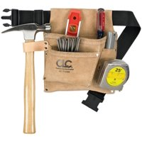 Custom Leathercraft IP489X 3-Pocket Nail and Tool Bag with Polyweb Belt