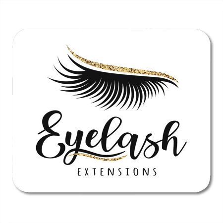 KDAGR Beautiful Eyelash Extension of Lashes for Beauty Salon Lash Maker Black Christmas Mousepad Mouse Pad Mouse Mat 9x10 inch - Fantasy Makers Eyelashes