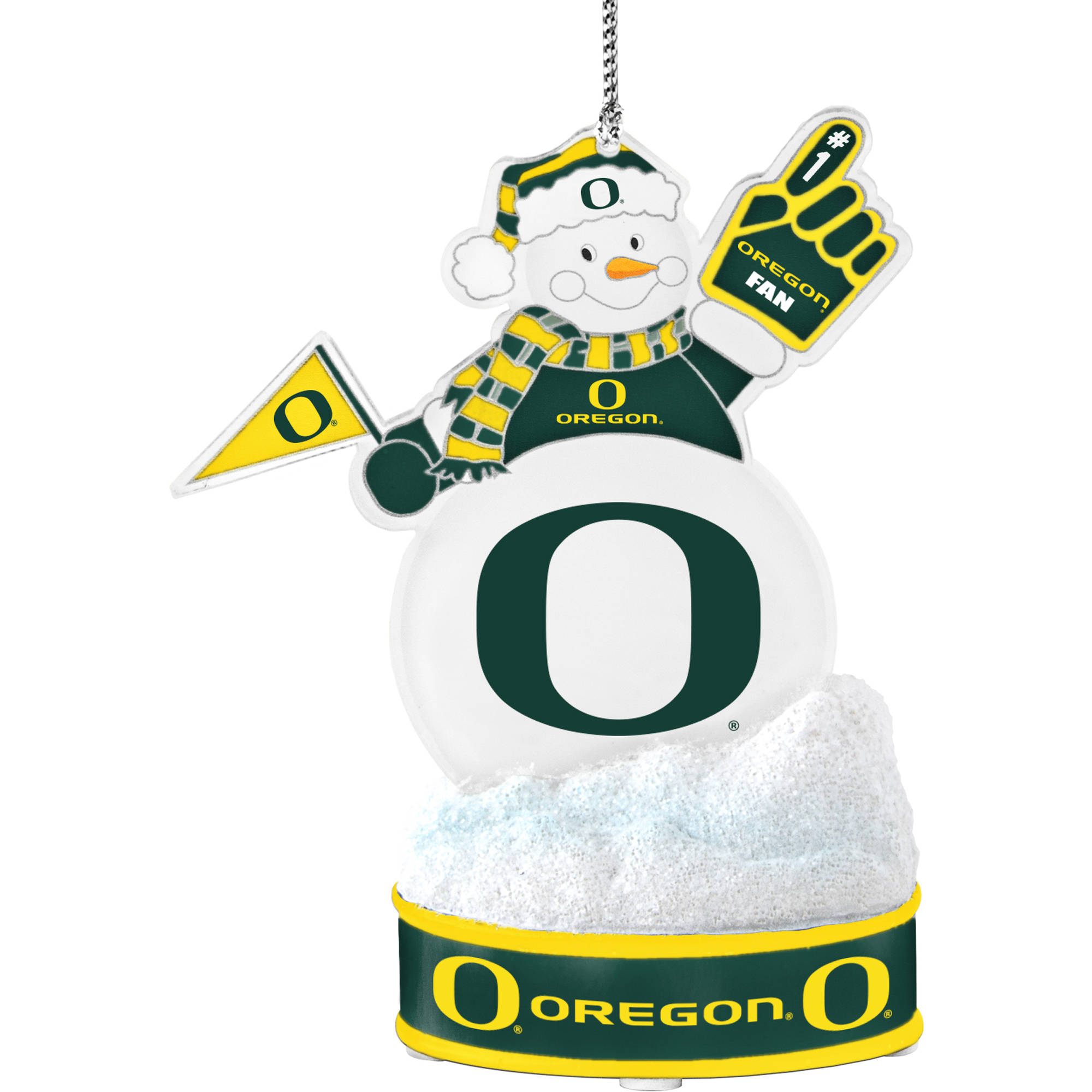 Topperscot by Boelter Brands NCAA LED Snowman Ornament, University of Oregon Ducks