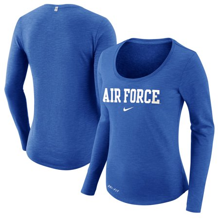 Air Force Falcons Nike Women's Team Slub Long Sleeve Performance T-Shirt - Heathered Royal ()
