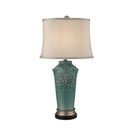 Table Lamps 1 Light With Medium Seafoam Glaze Gold Bronze Earnware Medium Base 31 inch 150 Watts