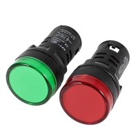 Unique Bargains 2 Pieces AD16-22D/S Green Red  Pilot Light Panel Indicator 22mm  110V 20mA