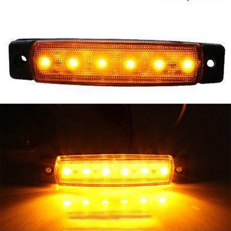 2x Car Truck Trailer Piranha LED Side Marker Blinker Lights Orange/Amber 12V-24V